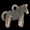 Breloque cheval 12mm cuivre x1