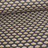 Tissu coton enduit fleurs - ocre x 10 cm