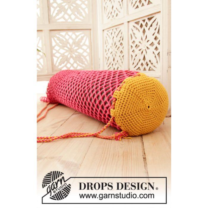 Kit crochet housse tapis de yoga - DROPS Design