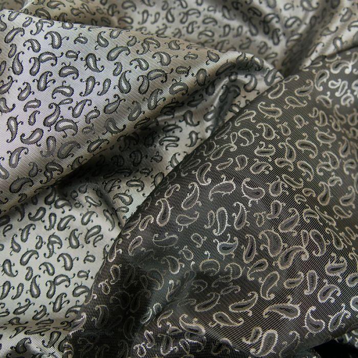 Tissu doublure polyester viscose - gris x 10 cm