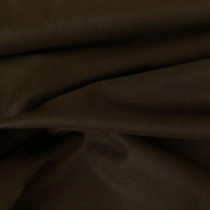 Tissu coton uni - chocolat x 10 cm