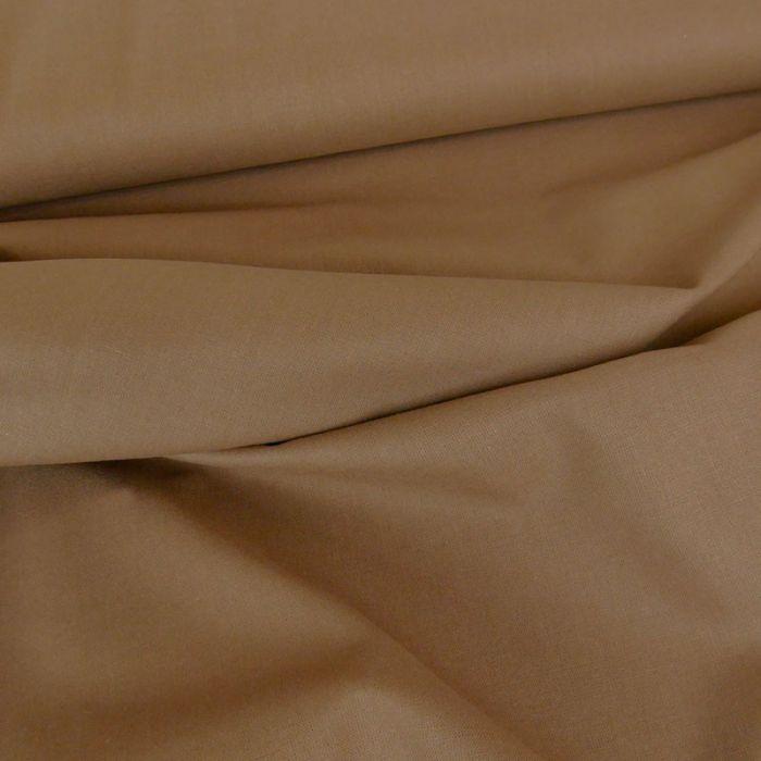 Tissu coton uni - taupe x 10 cm