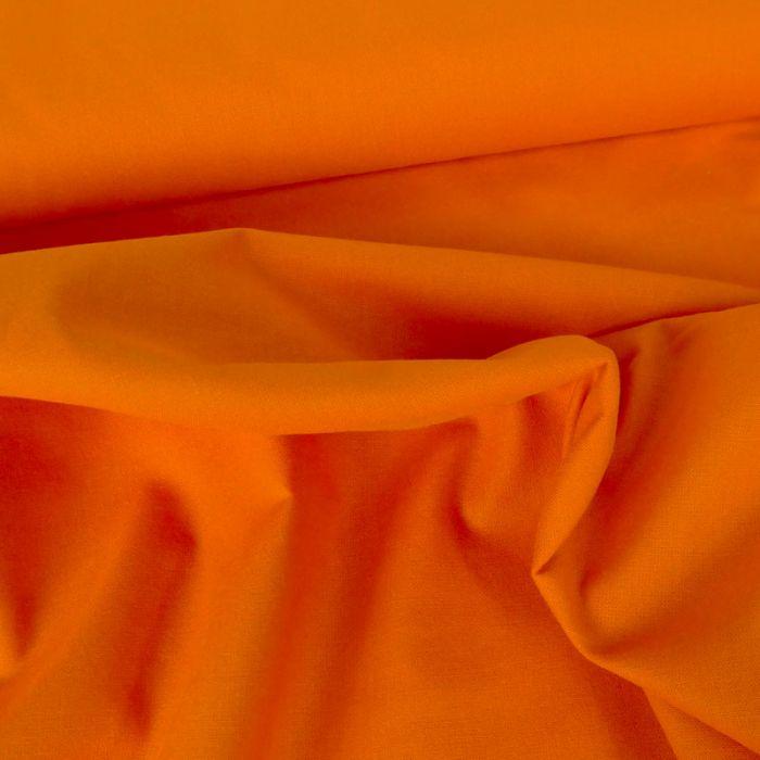 Tissu coton uni - orange vif x 10 cm