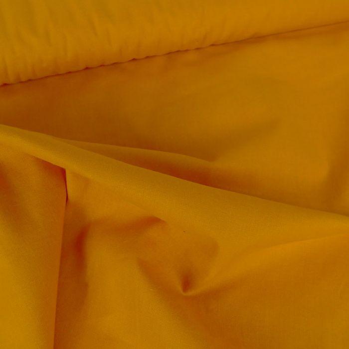Tissu coton uni - Jaune Orange x 10 cm