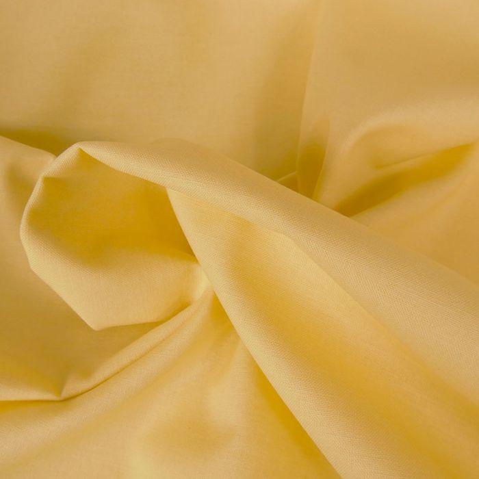 Tissu coton uni - jaune paille x 10 cm
