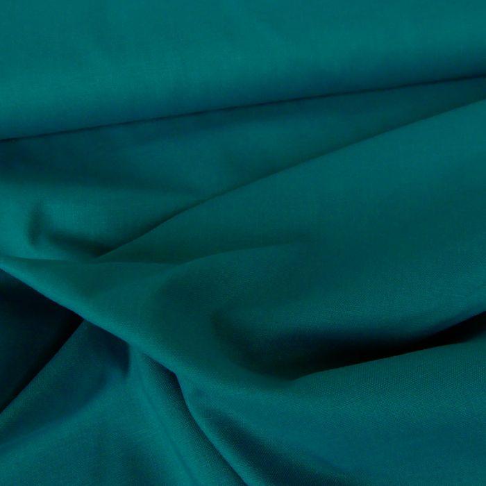 Tissu coton uni - bleu canard x 10 cm