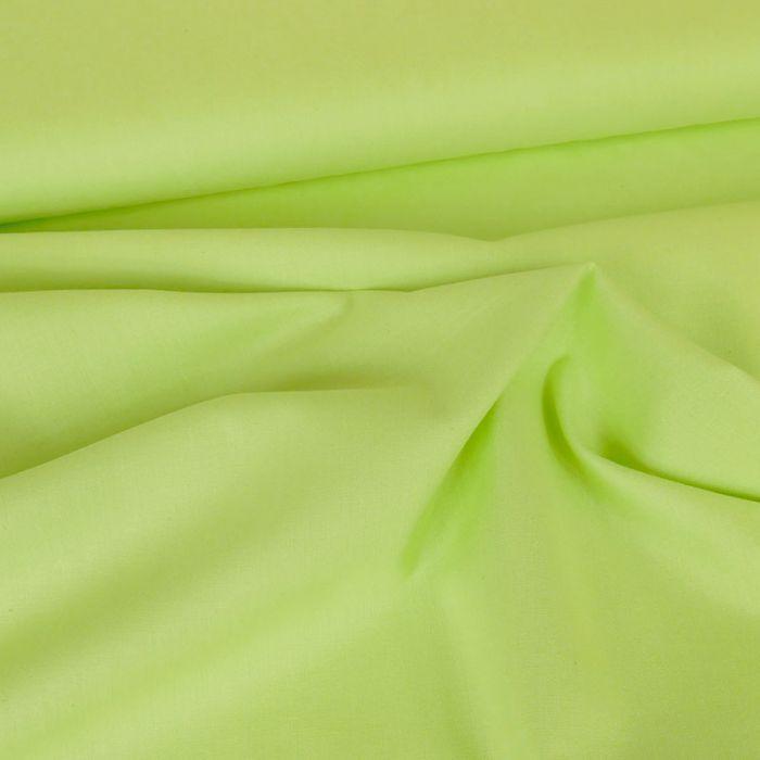 Tissu coton uni - vert anis x 10 cm