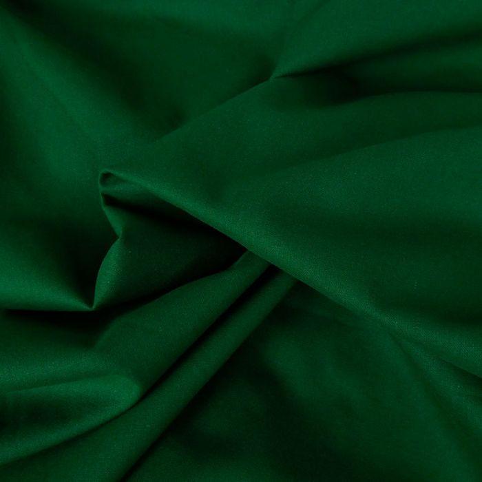 Tissu coton uni - vert sapin x 10 cm