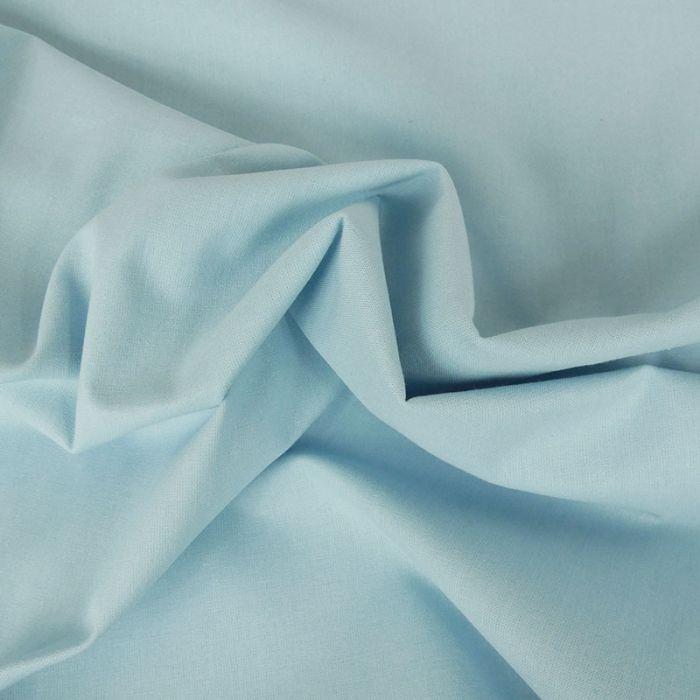 Tissu coton uni - bleu layette x 10 cm