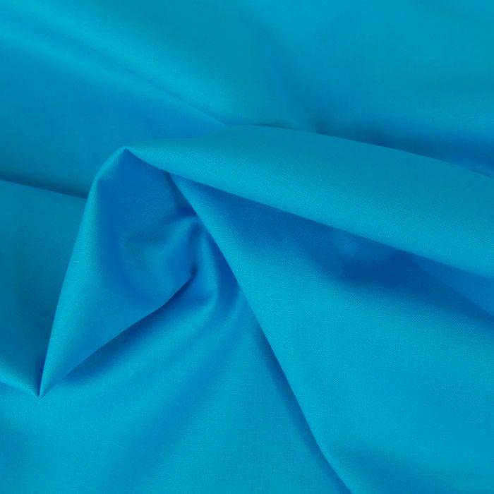 Tissu coton uni - turquoise x 10 cm