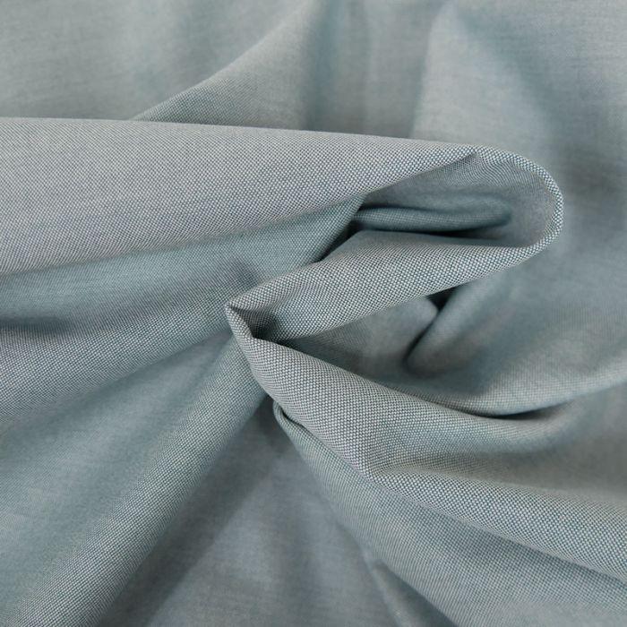 Tissu sergé coton fin - turquoise x 10 cm