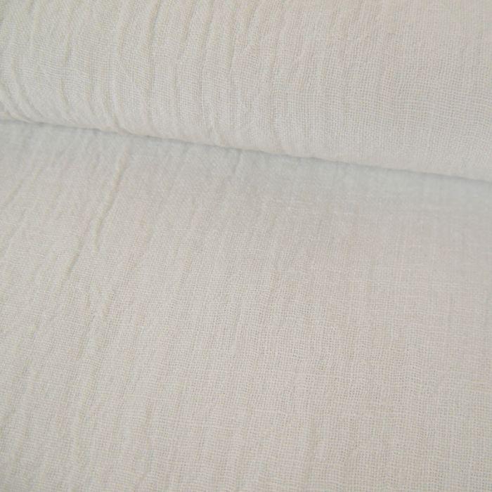 Tissu lin - blanc x 10 cm