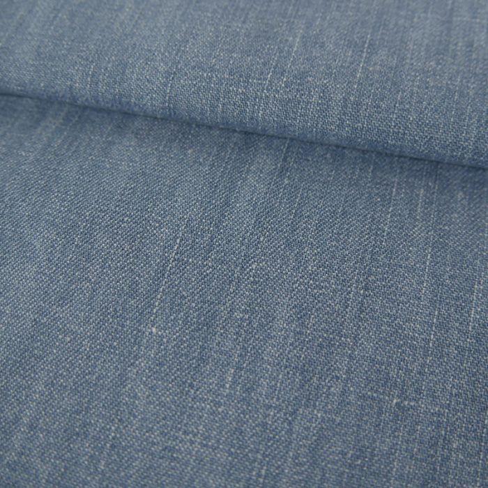 Tissu coton denim - bleu ciel x 10 cm