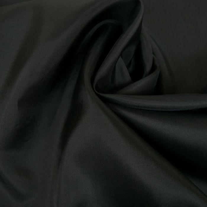 Tissu doublure acétate satin - noir x 10 cm