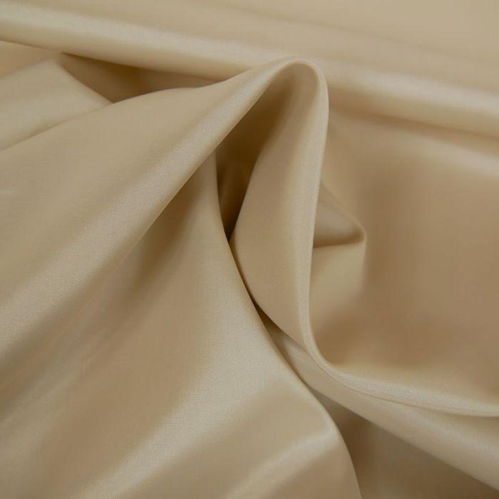 Tissu doublure acétate satin - écru x 10 cm