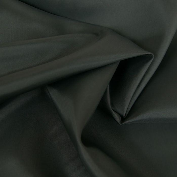 Tissu doublure acétate satin - anthracite x 10 cm