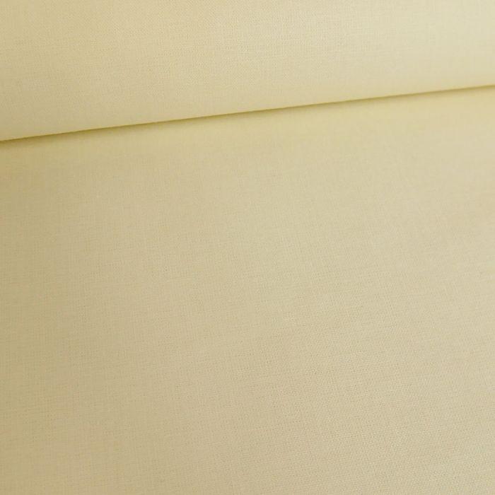Tissu coton uni - écru x 10 cm