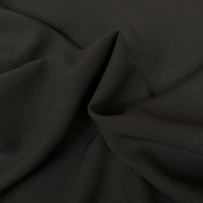 Tissu laine - Noir x 10 cm