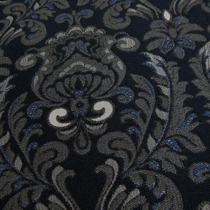 Tissu polyester jacquard - marine x 10 cm