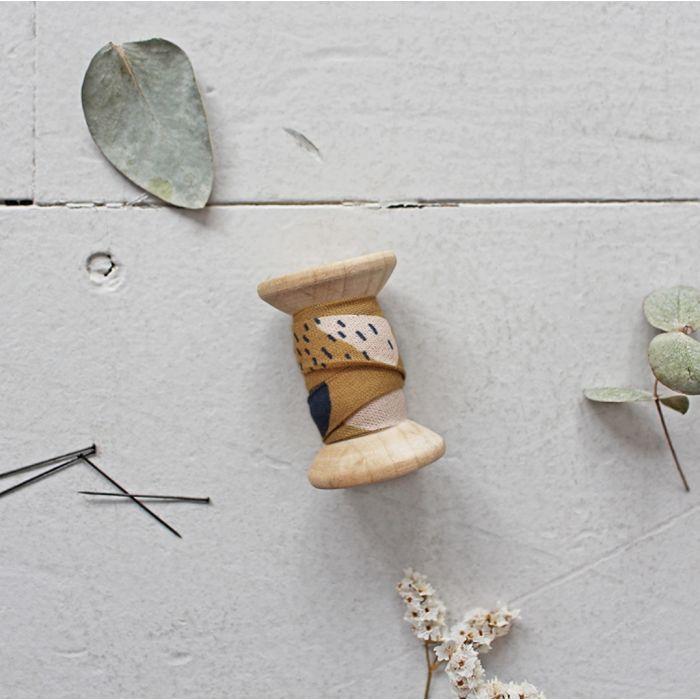 Biais Moonstone Ochre - Atelier Brunette x 10 cm
