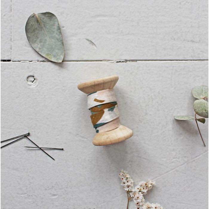 Biais Posie Green - Atelier Brunette x 10 cm