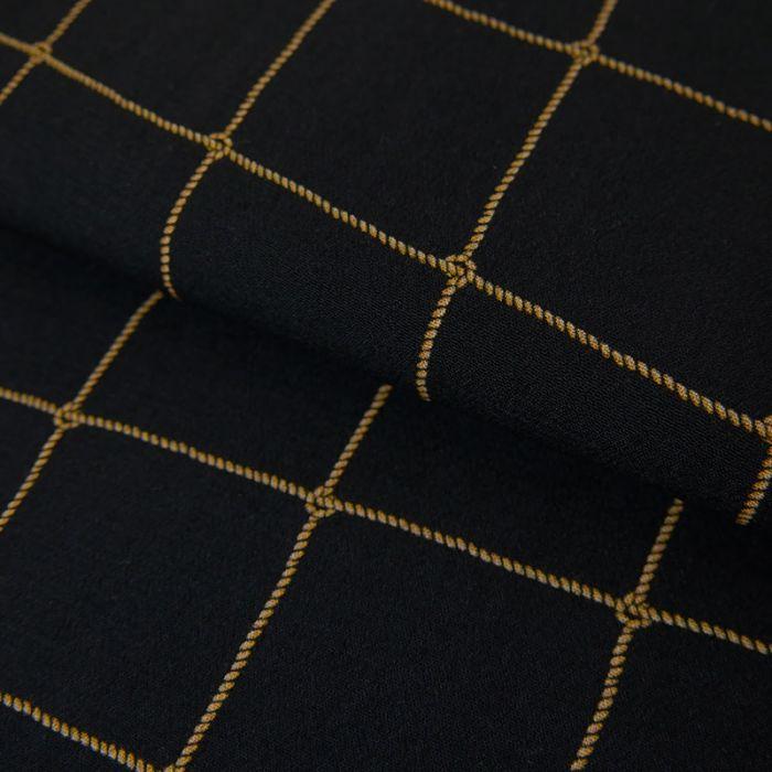 Tissu viscose fine noeuds - marine x 10 cm