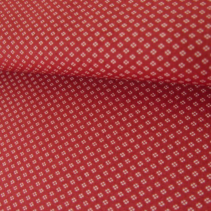 Tissu Coton Chemise - Rouge x 10 cm
