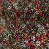 Tissu Viscose Fleurs - Noir x 10 cm