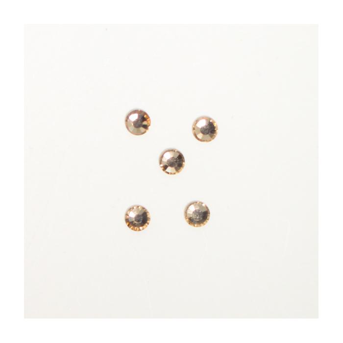 Perles à coller strassées 3mm ambrée x5