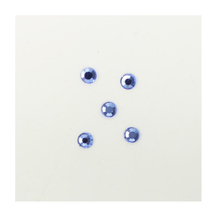 Perles à coller strassées 3mm bleu x5