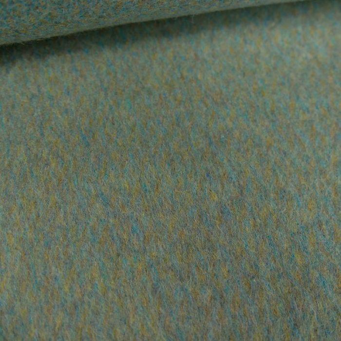 Coupon x 50 cm - Laine et cachemire vert bleu