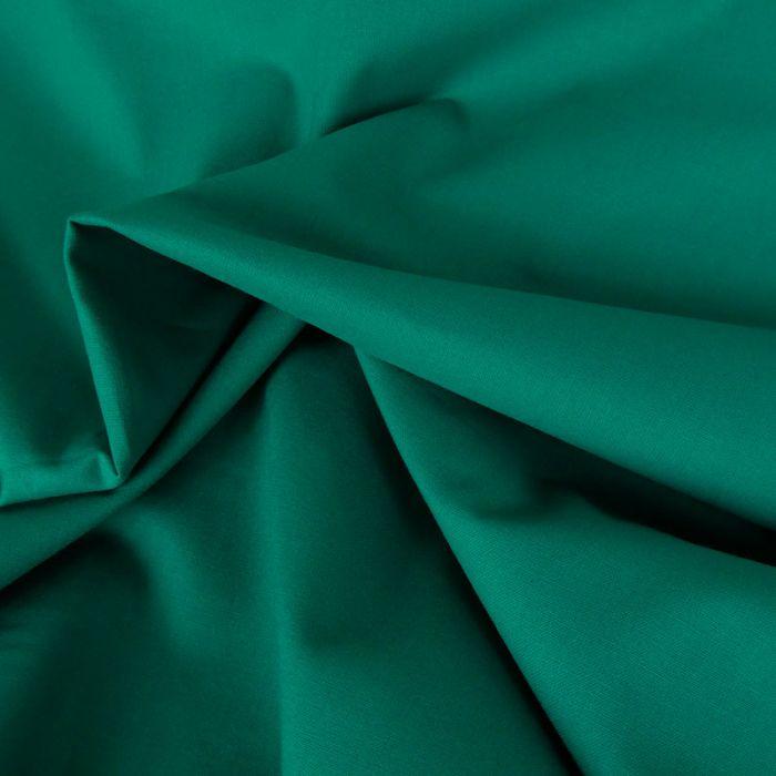 Coupon x 75 cm - Coton uni vert jade foncé