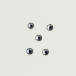 Perles à coller strassées 3mm gris