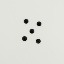 Perles à coller strassées 3mm noir