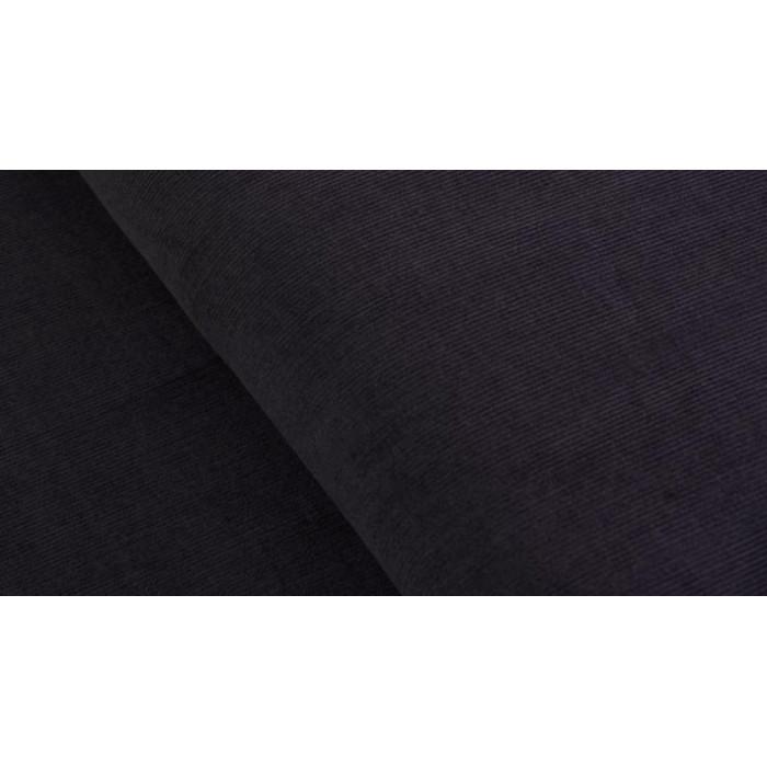 Coupon x 95 cm - Velours milleraies gris foncé