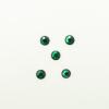 Perles à coller strassées 3mm vert foncé x5