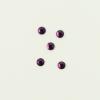 Perles à coller strassées 3mm violet x5