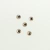 Perles à coller strassées 4mm ambrée x5