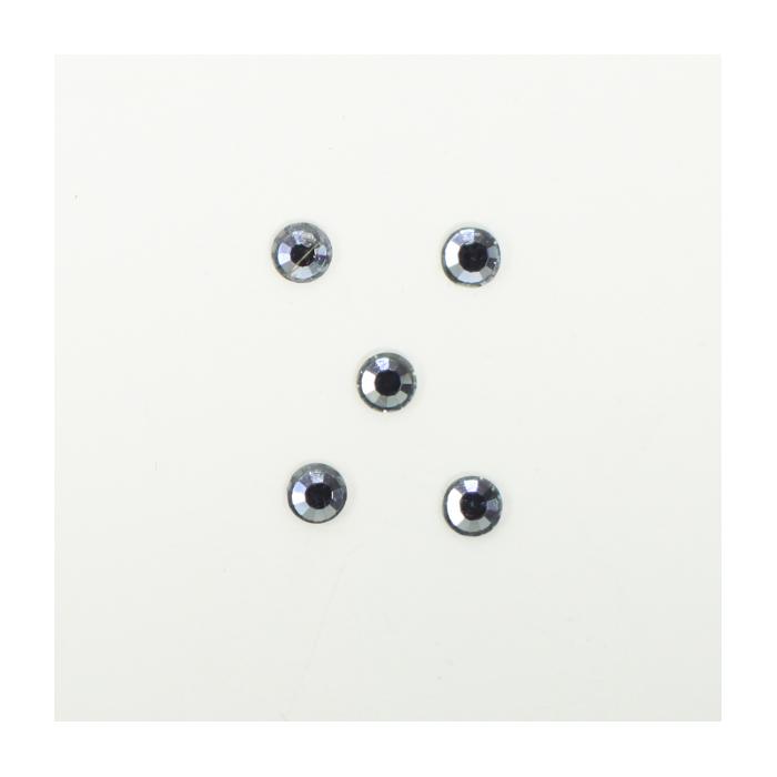 Perles à coller strassées 4mm gris x5