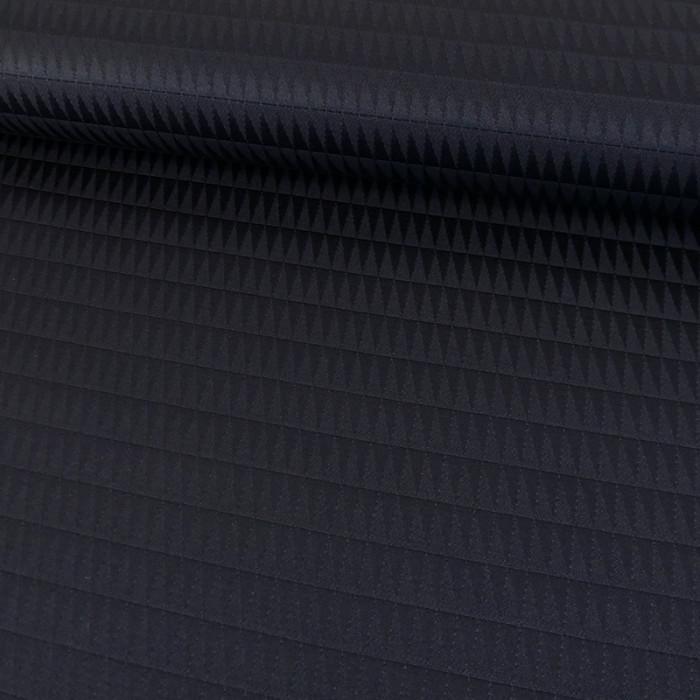 Coupon x 90 cm - Tissu élasthanne géométriques marine