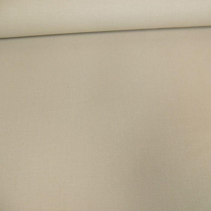Tissu coton uni - beige x 10 cm