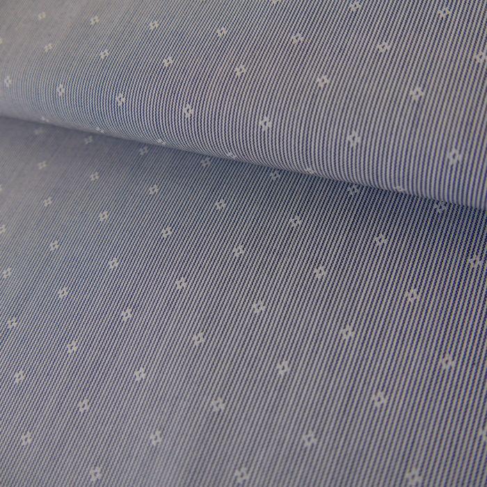 Tissu Coton Rayures - Blanc x 10 cm