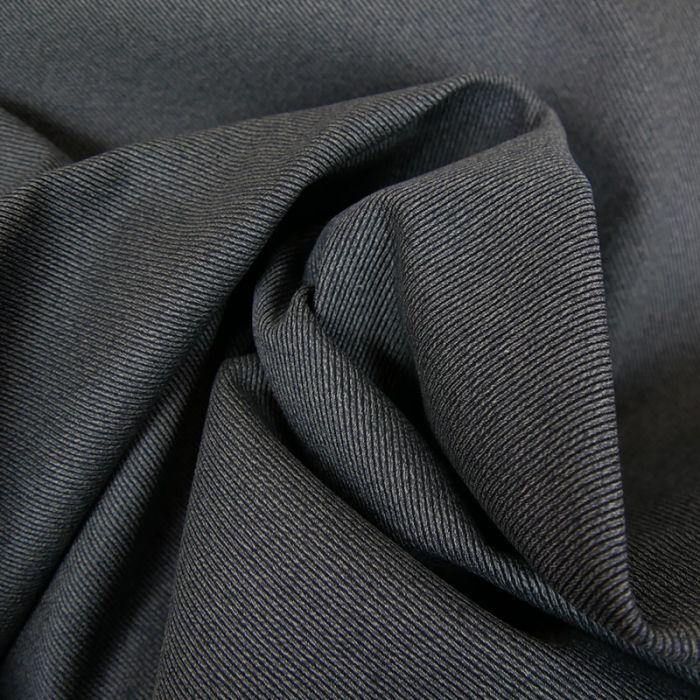 Tissu Denim Sergé - Bleu Gris x 10 cm