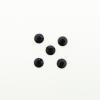 Perles à coller strassées 4mm noir x5