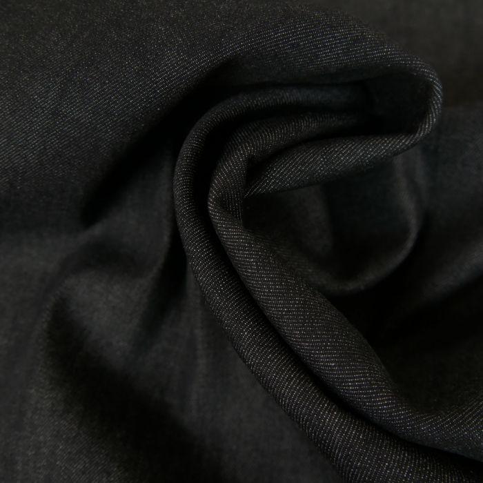 Tissu Denim - Noir Chiné x 10 cm