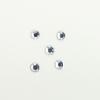 Perles à coller strassées 4mm transparent x5