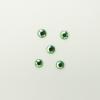 Perles à coller strassées 4mm vert clair x5
