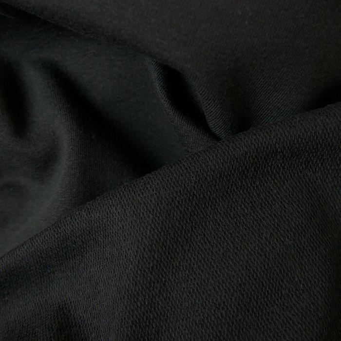 Coupon x 40 cm - Jersey sweat léger noir