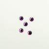 Perles à coller strassées 4mm violet x5
