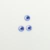 Perles à coller strassées 5mm bleu